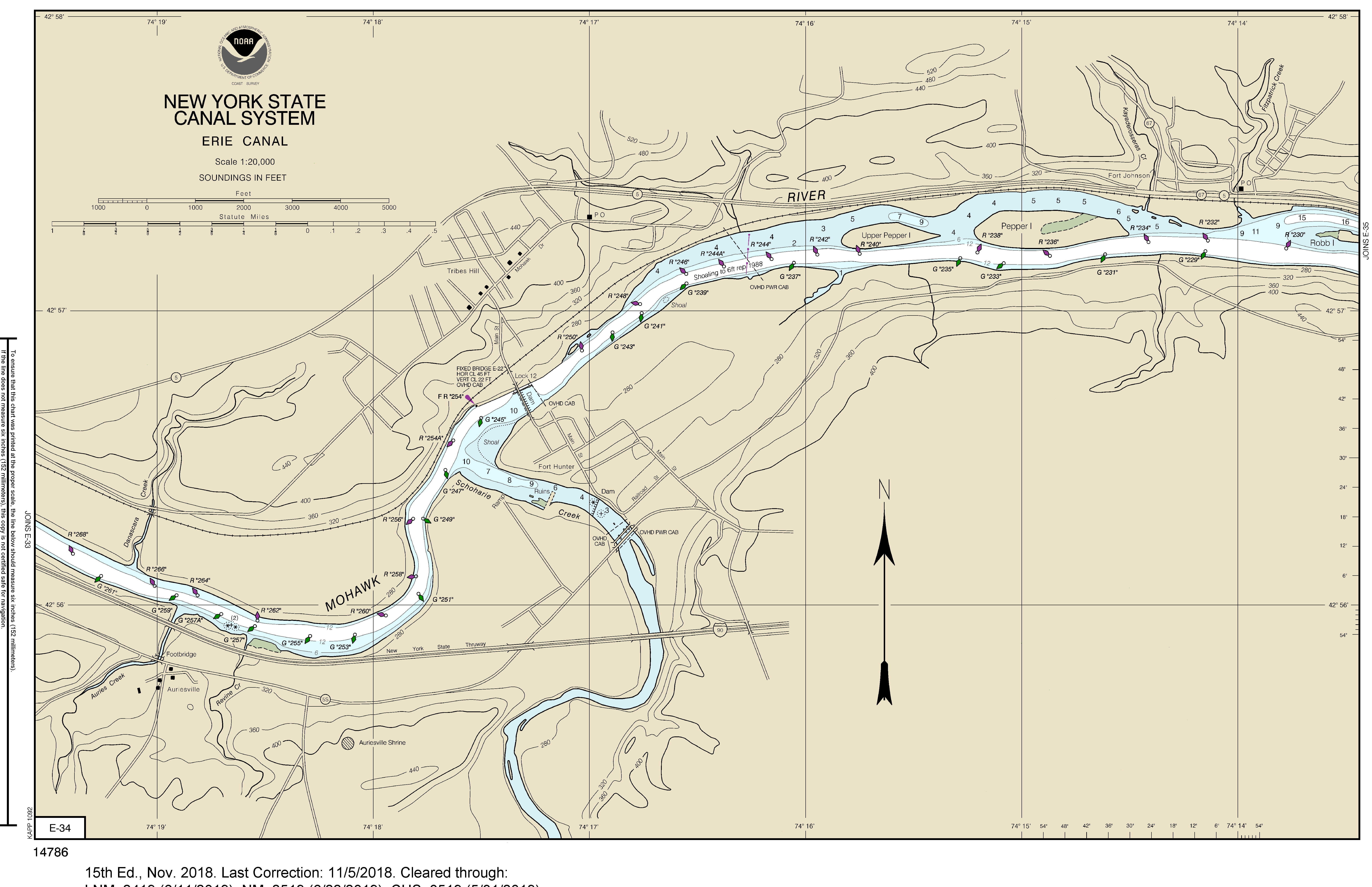 Notices And Alerts New York State Canals - Erie canal on map of us