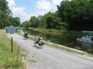 Image of bikers along the Canalway Trail